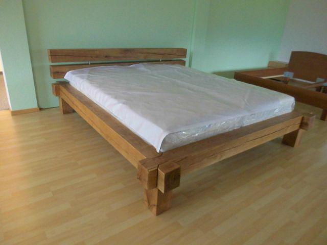 balkenbett eiche naturwollprodukte ming. Black Bedroom Furniture Sets. Home Design Ideas