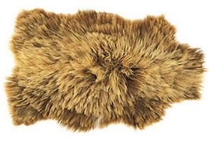 Isländisch Schaffell braun-blond